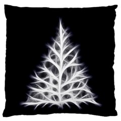 Christmas fir, black and white Standard Flano Cushion Case (One Side)