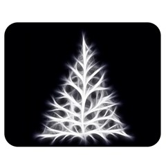 Christmas fir, black and white Double Sided Flano Blanket (Medium)