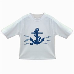Blue Anchor,  Aquarel painting art Infant/Toddler T-Shirts