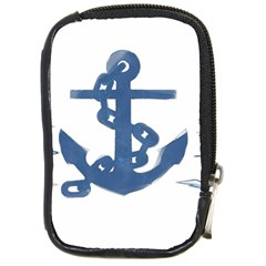 Blue Anchor,  Aquarel painting art Compact Camera Cases