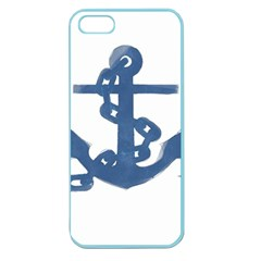 Blue Anchor,  Aquarel painting art Apple Seamless iPhone 5 Case (Color)