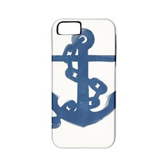 Blue Anchor,  Aquarel painting art Apple iPhone 5 Classic Hardshell Case (PC+Silicone)
