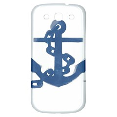 Blue Anchor,  Aquarel painting art Samsung Galaxy S3 S III Classic Hardshell Back Case