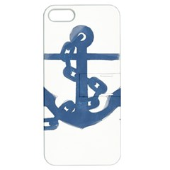 Blue Anchor,  Aquarel painting art Apple iPhone 5 Hardshell Case with Stand