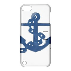 Blue Anchor,  Aquarel painting art Apple iPod Touch 5 Hardshell Case with Stand