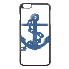 Blue Anchor,  Aquarel painting art Apple iPhone 6 Plus/6S Plus Black Enamel Case