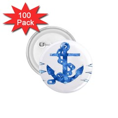 Anchor Aquarel painting art, soft blue 1.75  Buttons (100 pack)