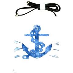 Anchor Aquarel painting art, soft blue Shoulder Sling Bags