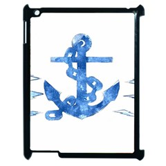 Anchor Aquarel painting art, soft blue Apple iPad 2 Case (Black)