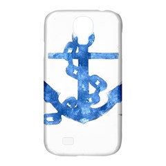 Anchor Aquarel painting art, soft blue Samsung Galaxy S4 Classic Hardshell Case (PC+Silicone)