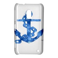 Anchor Aquarel painting art, soft blue Nokia Lumia 620