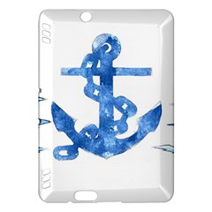 Anchor Aquarel painting art, soft blue Kindle Fire HDX Hardshell Case