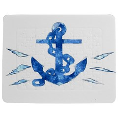 Anchor Aquarel painting art, soft blue Jigsaw Puzzle Photo Stand (Rectangular)