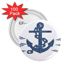 Anchor Pencil drawing art 2.25  Buttons (100 pack)