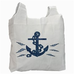 Anchor Pencil drawing art Recycle Bag (One Side)