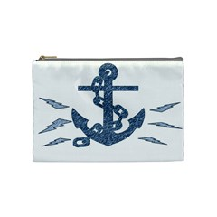 Anchor Pencil drawing art Cosmetic Bag (Medium)