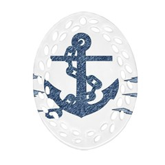 Anchor Pencil drawing art Ornament (Oval Filigree)