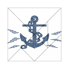 Anchor Pencil drawing art Acrylic Tangram Puzzle (6  x 6 )