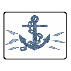 Anchor Pencil drawing art Double Sided Fleece Blanket (Small)