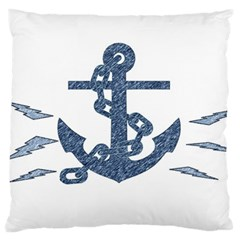 Anchor Pencil drawing art Standard Flano Cushion Case (One Side)