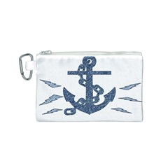 Anchor Pencil drawing art Canvas Cosmetic Bag (S)