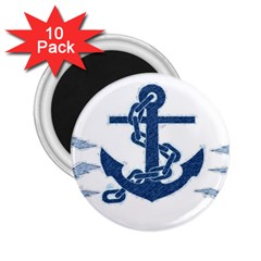 Blue Anchor Oil painting art 2.25  Magnets (10 pack)