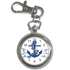 Blue Anchor Oil painting art Key Chain Watches