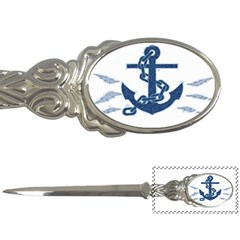 Blue Anchor Oil painting art Letter Openers