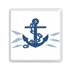 Blue Anchor Oil painting art Memory Card Reader (Square)