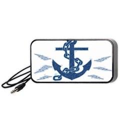 Blue Anchor Oil painting art Portable Speaker (Black)
