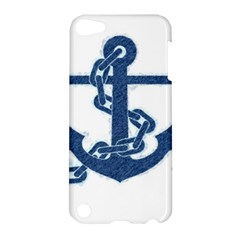 Blue Anchor Oil painting art Apple iPod Touch 5 Hardshell Case