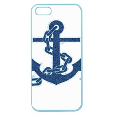 Blue Anchor Oil painting art Apple Seamless iPhone 5 Case (Color)