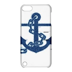 Blue Anchor Oil painting art Apple iPod Touch 5 Hardshell Case with Stand