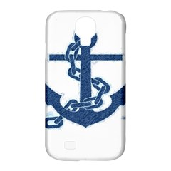 Blue Anchor Oil painting art Samsung Galaxy S4 Classic Hardshell Case (PC+Silicone)
