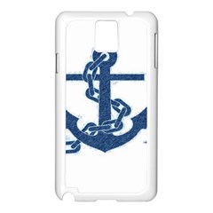 Blue Anchor Oil painting art Samsung Galaxy Note 3 N9005 Case (White)