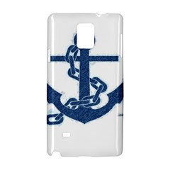 Blue Anchor Oil painting art Samsung Galaxy Note 4 Hardshell Case