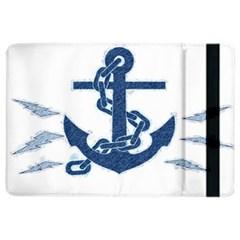 Blue Anchor Oil painting art iPad Air 2 Flip