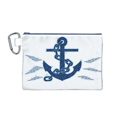 Blue Anchor Oil painting art Canvas Cosmetic Bag (M)