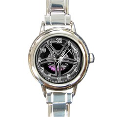 Bord Edge Wheel Tire Black Car Round Italian Charm Watch