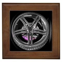 Bord Edge Wheel Tire Black Car Framed Tiles