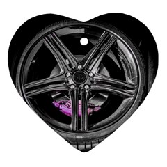 Bord Edge Wheel Tire Black Car Ornament (Heart)