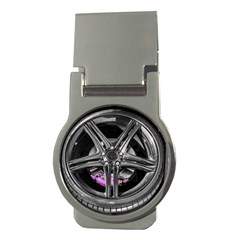 Bord Edge Wheel Tire Black Car Money Clips (Round)