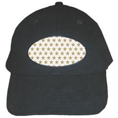 Golden stars pattern Black Cap