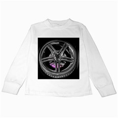 Bord Edge Wheel Tire Black Car Kids Long Sleeve T-Shirts