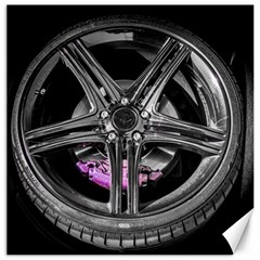 Bord Edge Wheel Tire Black Car Canvas 12  x 12