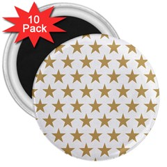 Golden stars pattern 3  Magnets (10 pack)