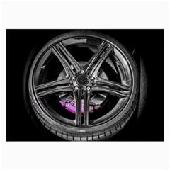 Bord Edge Wheel Tire Black Car Large Glasses Cloth