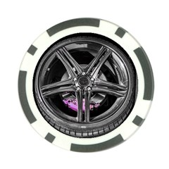 Bord Edge Wheel Tire Black Car Poker Chip Card Guards