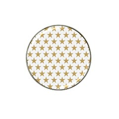 Golden stars pattern Hat Clip Ball Marker (10 pack)