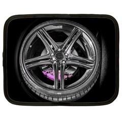 Bord Edge Wheel Tire Black Car Netbook Case (XL)